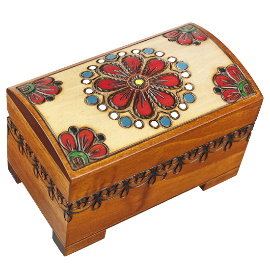 Country Flowers - Polish Wooden Box