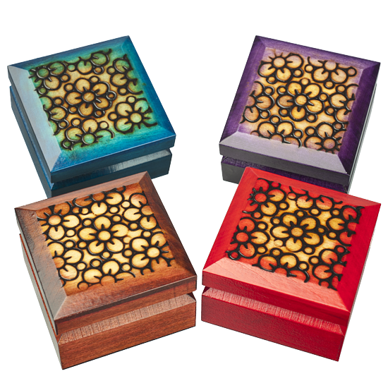 Modern Meadow Flowers - Polish Wooden Box