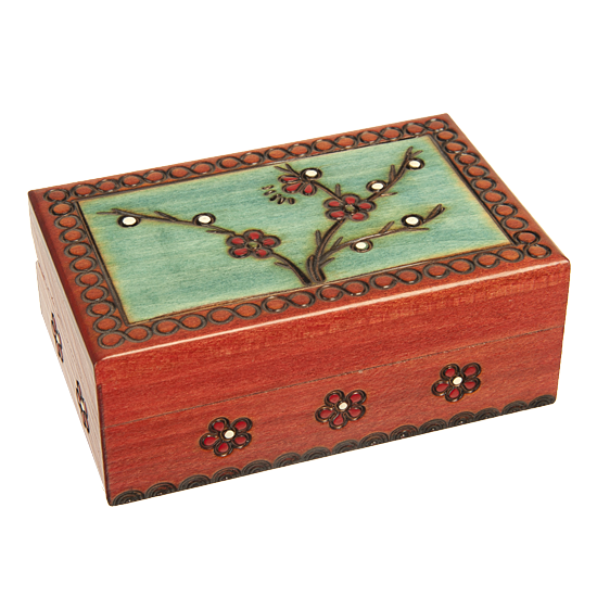 Blooming Plum - Small - Polish Wooden Box