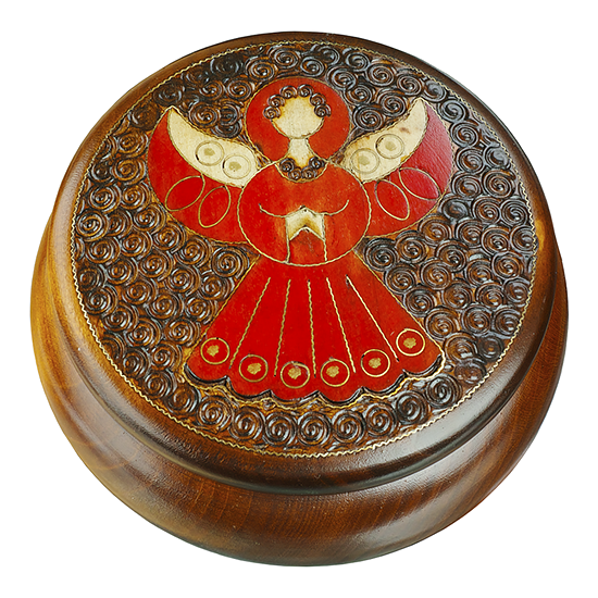 Guardian From Above - Polish Wooden Box