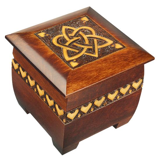 Trinity & Heart Chest - Polish Wooden Box