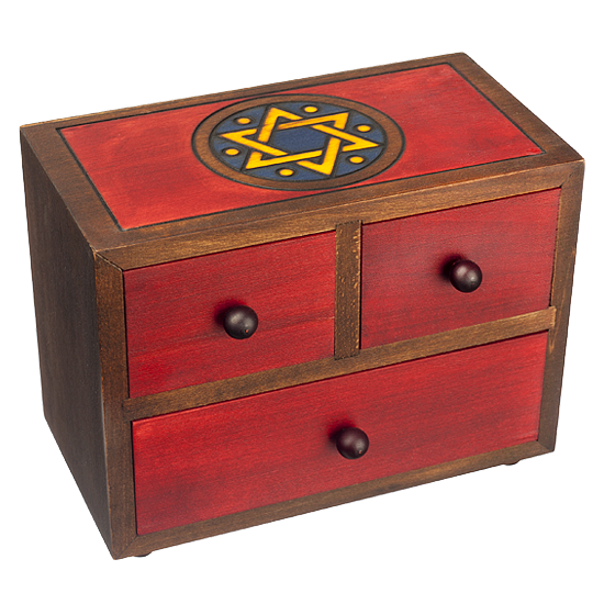 Judaica Jewelry Tower - Polish Wooden Box