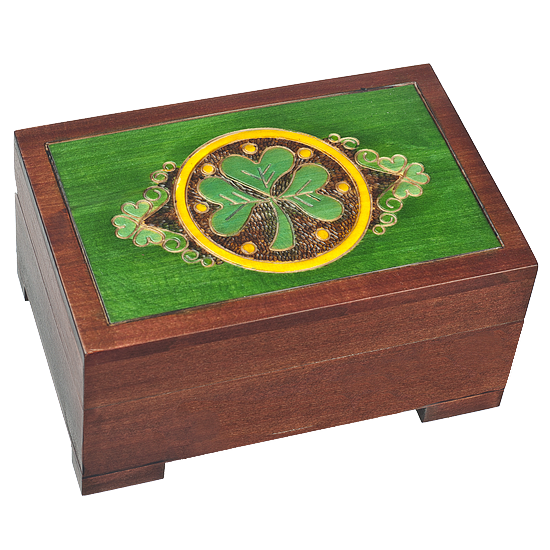 Celtic - Lucky Charm - Polish Wooden Box
