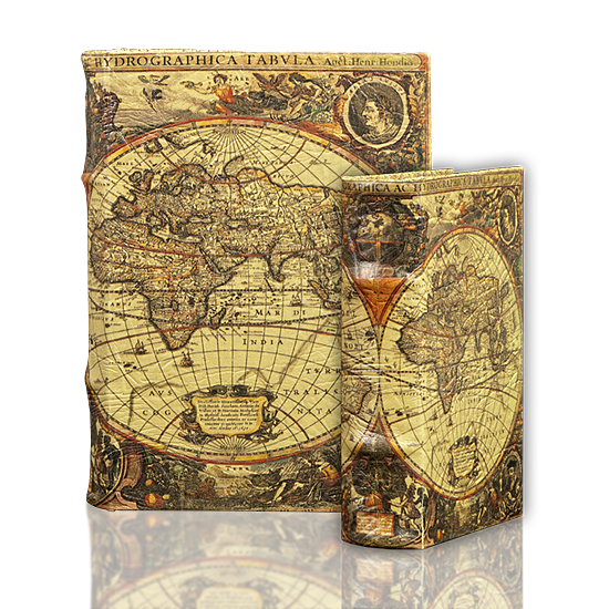 Map Book Box - Book Box