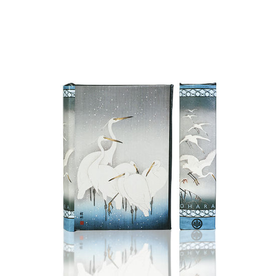 White Herons in Falling Snow