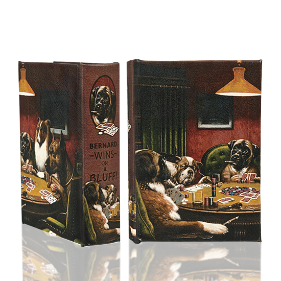 Dogs playing Poker - Book Box