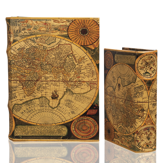 Rustic World Map - Book Box