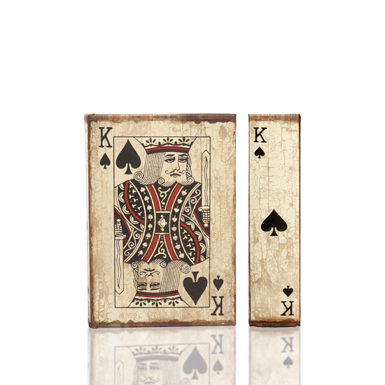 Playing Cards - King of Spades - Book Box