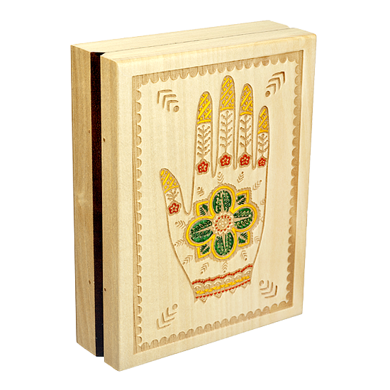 Henna Hand - Polish Wooden Box