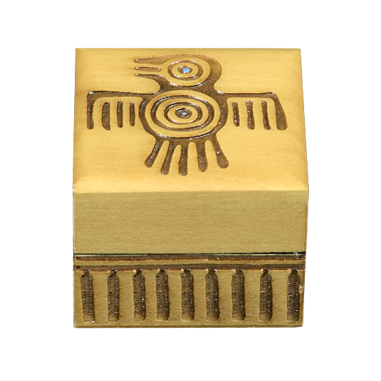 Native American - Eagle - Polish Wooden Box