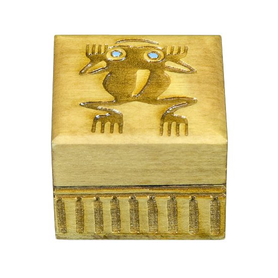 Native American - Leaping Frog - Polish Wooden Box