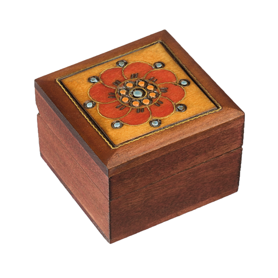 Little Flower - Polish Wooden Box