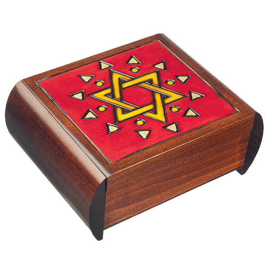 Star of David Secret - Polish Wooden Box