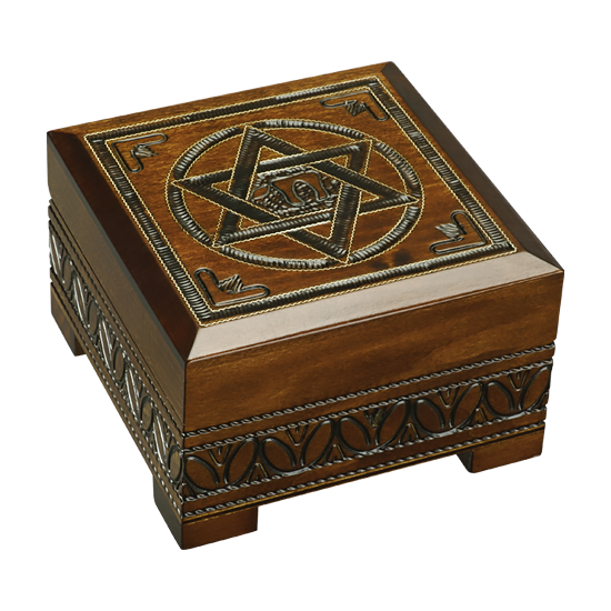 Star of David - Polish Wooden Box