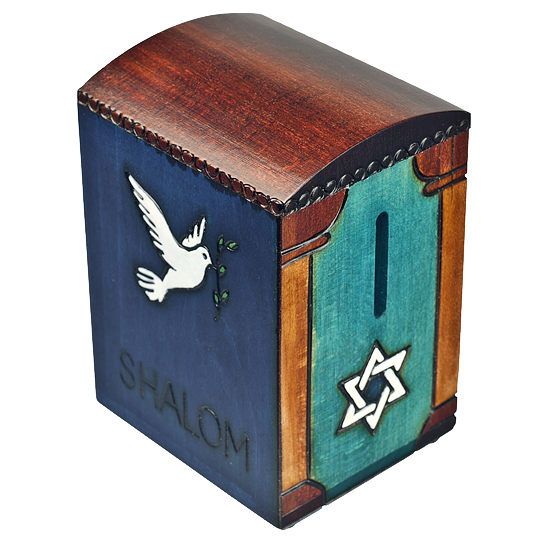 Dove Tzedakah - Secret - Polish Wooden Box