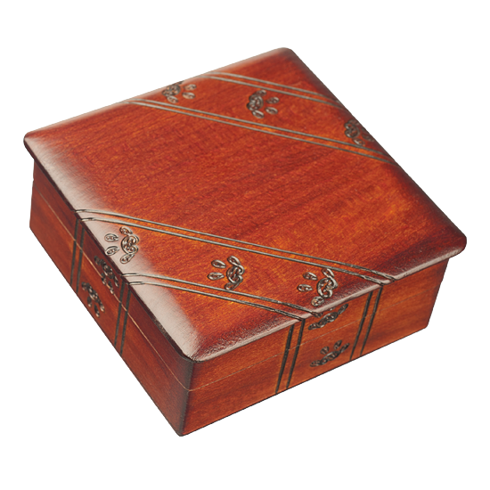 Small Square Paws - Polish Wooden Box