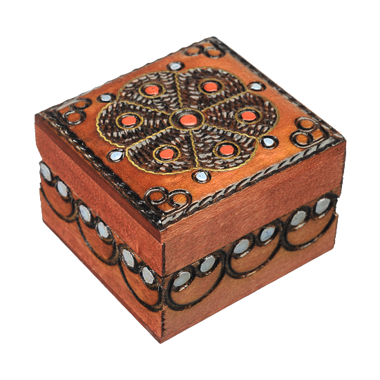 Traditional Flower - Polish Wooden Box