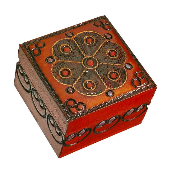 Royal Seal - Floral - Polish Wooden Box