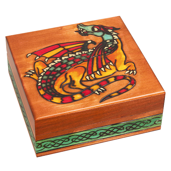Earth Dragon - Polish Wooden Box
