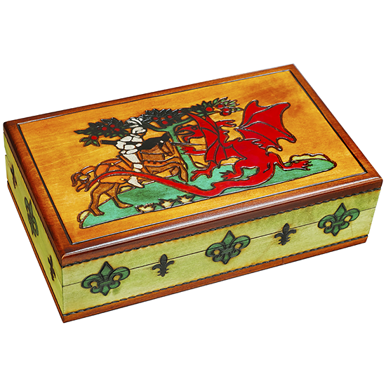 Knights & Dragons - Polish Wooden Box
