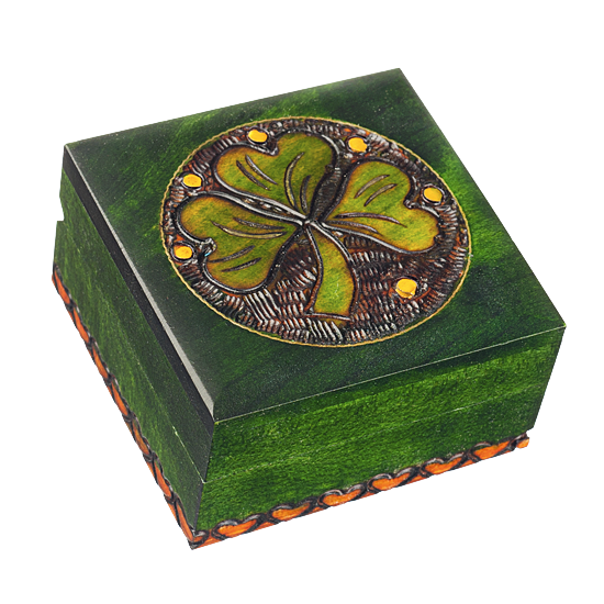 Shamrock - Polish Wooden Box