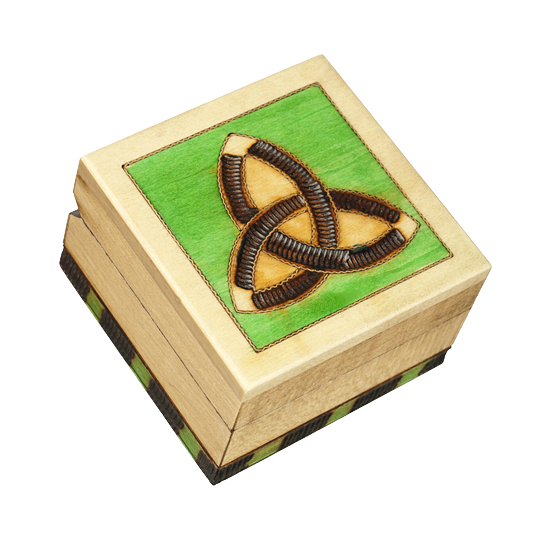 Modern Trinity - Polish Wooden Box