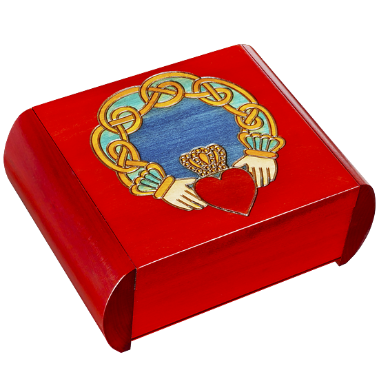Claddagh - Secret Box - Polish Wooden Box