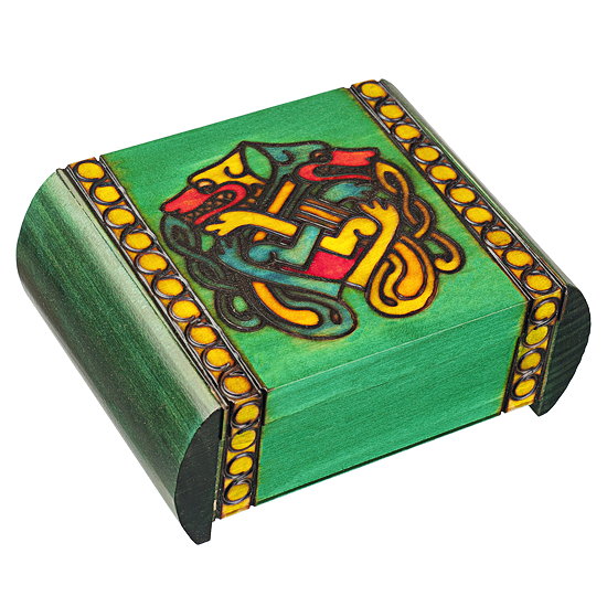 Celtic Dragon - Secret Box - Polish Wooden Box