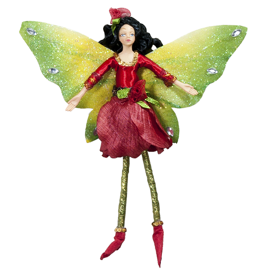 Red Rose Fairy - Enchanted Fairy Doll