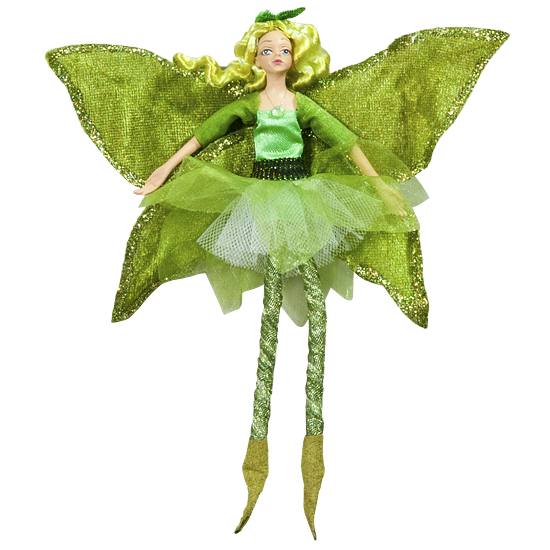 Green Leaf Fairy - Enchanted Fairy Doll