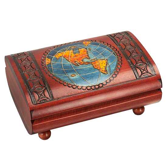 Map Cigar Box (Large) - Polish Wooden Box