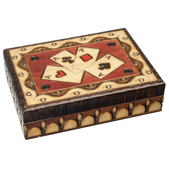 Aces, Playing Cards - Polish Wooden Box