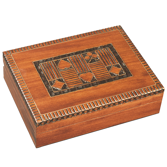 Classic Card Box - Polish Wooden Box