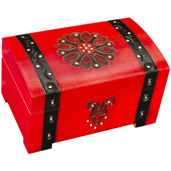 Big Red Riding Hood - Polish Wooden Box