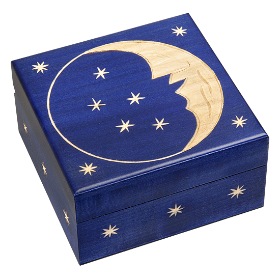 CARVED MOON - Polish Wooden Box