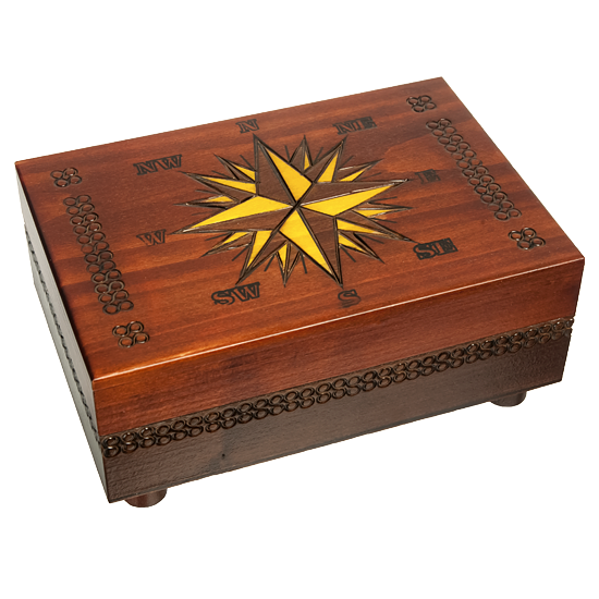 Cartography - Secret Opening - Polish Wooden Box