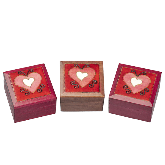 Assorted Hearts - Polish Wooden Box