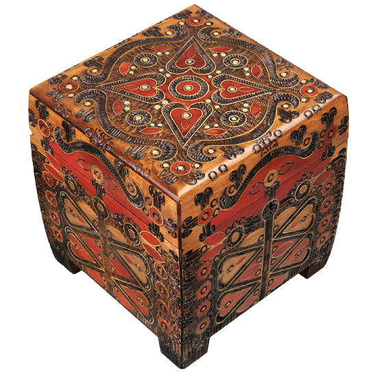Peacock - The Maestro - Polish Wooden Box