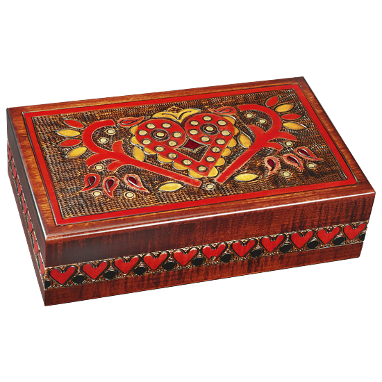 Vintage Hearts~ - Polish Wooden Box