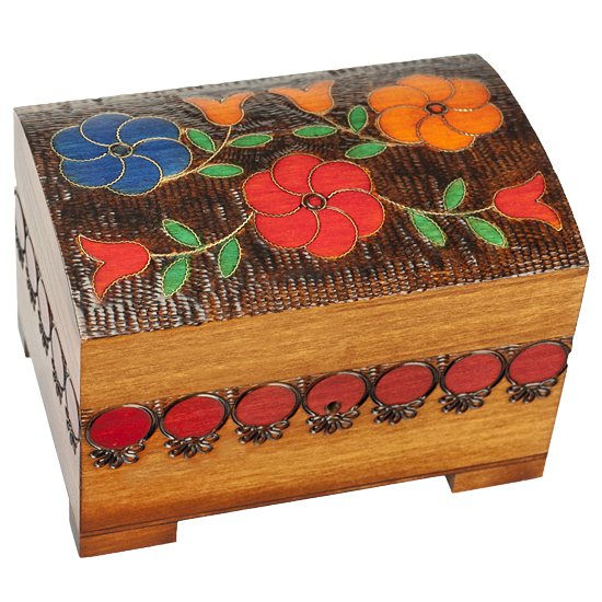 Bright Flowers - Polish Wooden Box