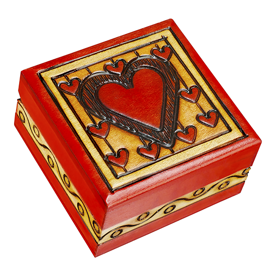Heart on a String - Polish Wooden Box