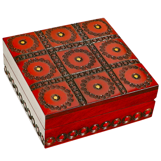 Dots and Squares - Polish Wooden Box
