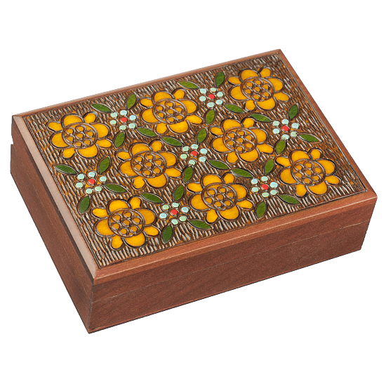 Traditional Floral Pattern - Polish Wooden Box
