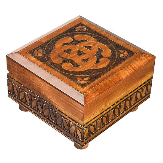 Celtic Knot - secret box - Polish Wooden Box