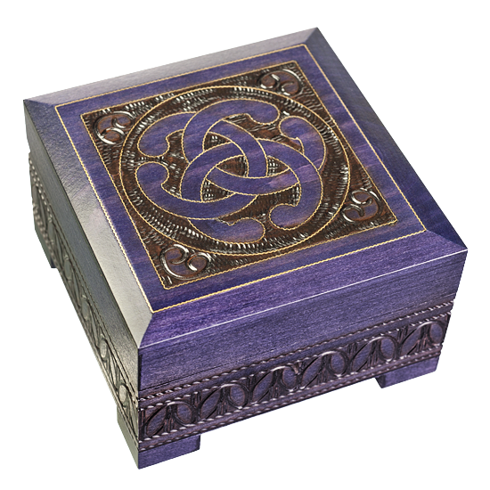 Celtic Knot - Lock & Key - Polish Wooden Box