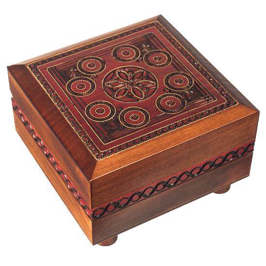 Box with key - Polish Wooden Box