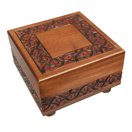 Waved Motif - Secret Legs - Polish Wooden Box