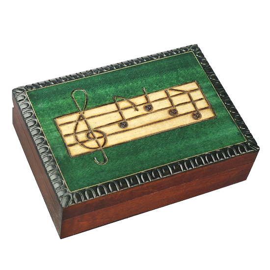 Musical Notes - Polish Wooden Box