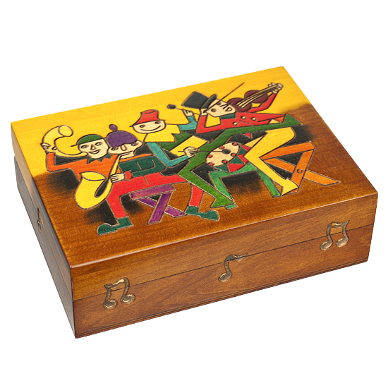 Musicians - Polish Wooden Box