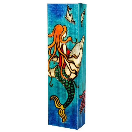Mermaid, Pencil holder - Polish Wooden Box